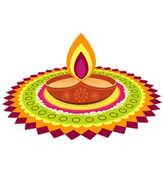 colorful diwali festival vector image
