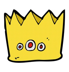 Comic cartoon crown vector