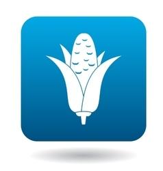 Corncob icon in flat style vector image