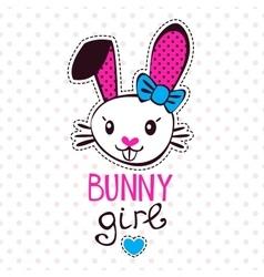Cute bunny girl vector