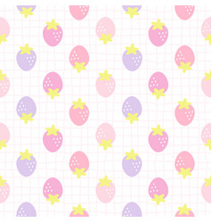 cute strawberry seamless pattern background vector image