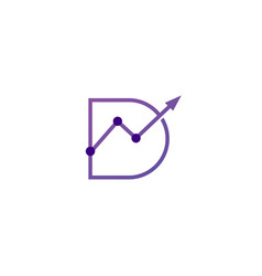 d letter stats logo icon vector image