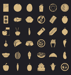 Energy value icons set simple style vector