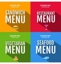Flat restaurant menu typography design vector