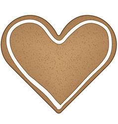 Gingerbread heart vector