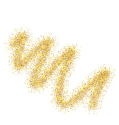 golden sparkling trail vector image