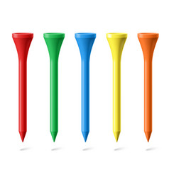 Golf tees vector