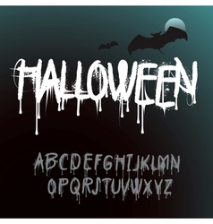 halloween splash alphabet vector image