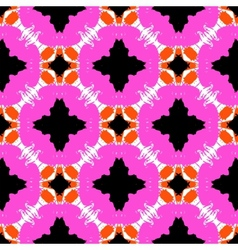 hand painted pattern with bold ethnic motifs vector image