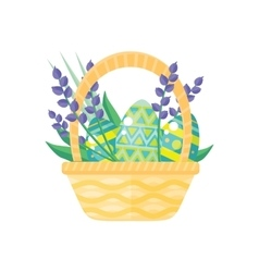 Happy Easter Holiday Card Design Flat vector image