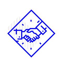 icon handshake isolated on white background the vector image