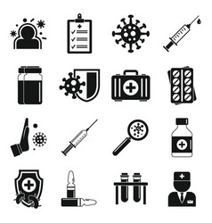 Immunization icons set simple style vector