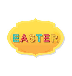 label elements of easter holiday vector image
