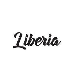 liberia text design calligraphy vector image