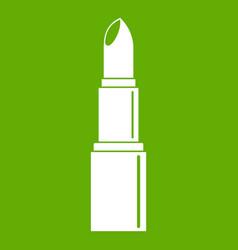 Lipstick icon green vector