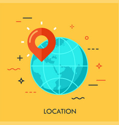 location flat concept vector image