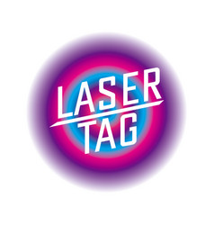 Logo for laser tag and airsoft vector