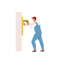 man working with a drill vector image