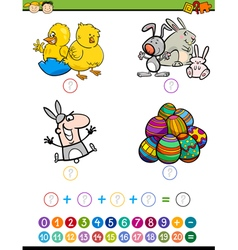 Mathematic game for children vector