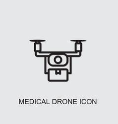Medical drone icon vector