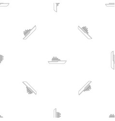military ship pattern seamless vector image