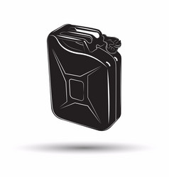 monochrome petrol canister icon vector image