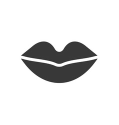 Mouth or lips healthcare and medical related vector
