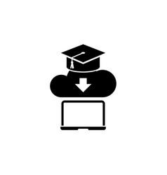 online education learning internet study flat icon vector image