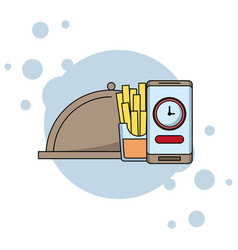 Online food order and delivery vector