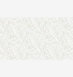 palm leaves seamless pattern lina art vector image