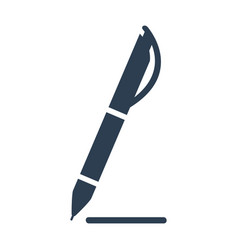Pen icon on white background vector