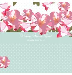 Pink flowers bouquet card vector