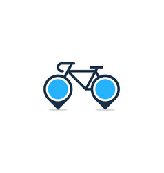 point bike logo icon design vector image