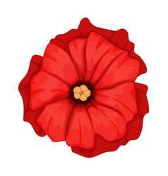 Poppy flower cartoon icon vector