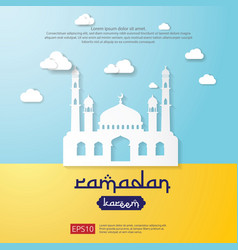 Ramadan kareem greeting card islamic banner vector