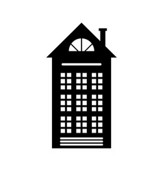 residential real estate building icon isolated vector image