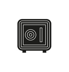 safe box icon - security - wealth protection vector image