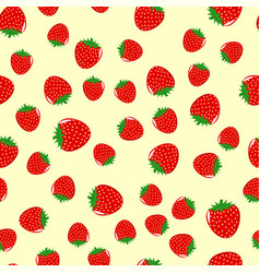 seamless pattern from strawberries vector image