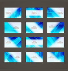 set of business card theme corporate identity vector image