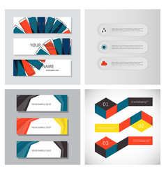 Set of infographic arrows with 3 step up options vector
