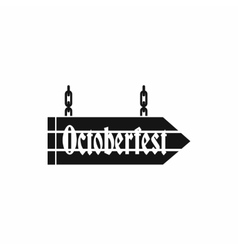 Sign octoberfest icon simple style vector image vector image