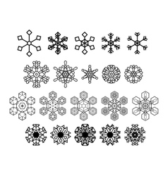 Snowflakes icons set 20 icons vector image