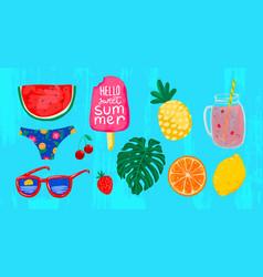summer drawings watermelon vector image