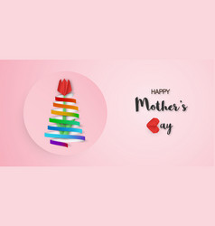 Template design for happy mothers day in paper vector
