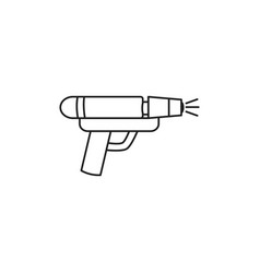 Toy water gun line style icon vector