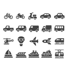 vehicle icon set vector image