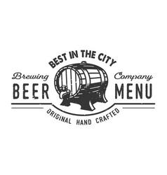 vintage beer pub logo concept vector image