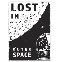 vintage galaxy exploration poster vector image