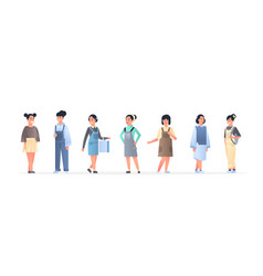 Young asian women group wearing casual clothes vector