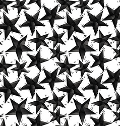 Black stars seamless pattern geometric vector image vector image